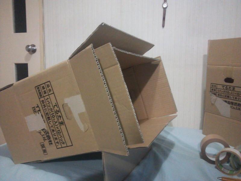 猫ちゃん用段ボールハウスの作り方3